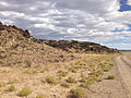 2014-07-18 17 02 38 Close view of the west edge of the Black Rock Lava Flow, Nevada.JPG