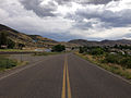2014-08-19 14 51 04 View south along Nevada State Route 225 (Mountain City Highway) about 96.6 miles north of Nevada State Route 535 (Idaho Street) in Owyhee, Nevada.JPG