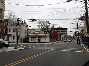 Central West, Trenton, New Jersey - Intersection of Calhoun Street and Spring Street in Central West