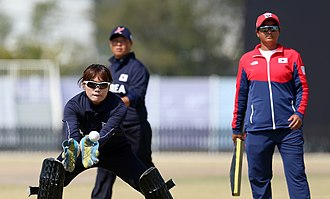 Cricket at the 2014 Asian Games - South Korea women's team against China