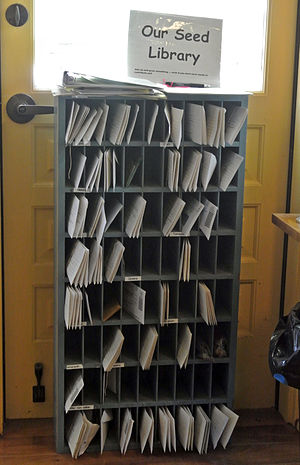 Seed library - Seed library shelving, USA