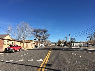 Panaca, Nevada - Main Street in Panaca