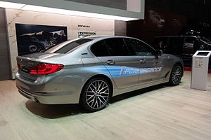 BMW 5 Series (G30) - BMW 530e iPerformance at the 2017 Geneva Motor Show.