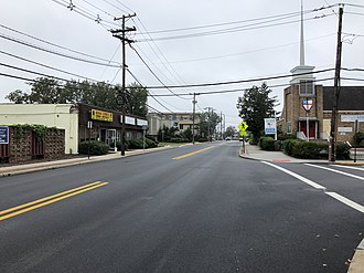 Bergenfield, New Jersey - County Route 39 (Washington Avenue) in Bergenfield