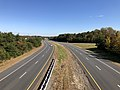 2018-10-30 12 16 00 View south along Virginia State Route 286 (Fairfax County Parkway) from the overpass for Virginia State Route 641 (Pohick Road) on the border of Burke and Newington Forest in Fairfax County, Virginia.jpg