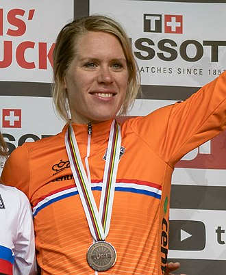 Ellen van Dijk - Van Dijk after taking the bronze medal in the time trial at the 2018 World Road Championships