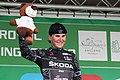 2018 Women's Tour stage 3 055 Elisa Longo Borghini Queen of the Mountains.JPG