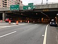 2019-06-13 13 14 02 View north along Interstate 395 (Center Leg Freeway) at Exit 10 (Massachusetts Avenue) in Washington, D.C..jpg