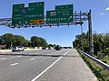 2019-06-14 15 42 07 View south along the Outer Loop of the Baltimore Beltway (Interstate 695) at Exit 17 (Maryland State Route 122-Security Boulevard, Woodlawn) in Woodlawn, Baltimore County, Maryland.jpg