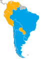 2019 South American Beach Soccer League map of nations.png