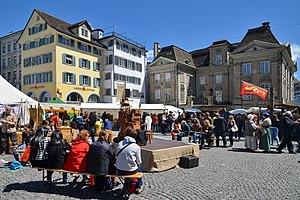 Gesellschaft zu Fraumünster - Spectaculum at the Münsterhof square in May 2014