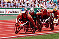 261000 - Athletics wheelchair racing Greg Smith action - 3b - 2000 Sydney race photo.jpg