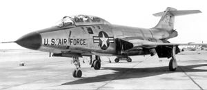 408th Armament Systems Group - Image: 322d Fighter Interceptor Squadron F 101B 57 270 1959