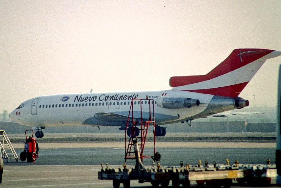 327ad - Nuevo Continente Boeing 727; OB-1759-P@LIM;04.10.2004 (4708713277)