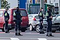 3 traffic policemen and 1 government trooper in Minsk.jpg
