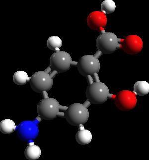 4-Aminosalicylic acid - Image: 4 Aminosalicylic acid 3d structure