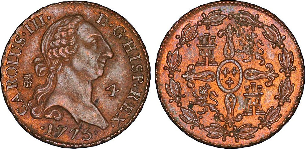 4 Maravedis à l'effigie de Charles III