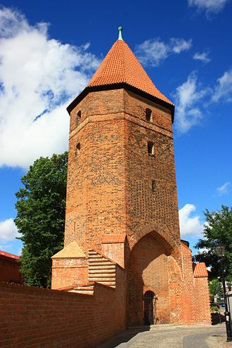 Lębork - Part of the medieval city walls