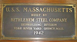 69-322-A PLAQUE, BUILDERS, USS MASSACHUSETTS (BB 59).jpg