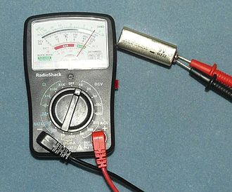 Voltage - Multimeter set to measure voltage