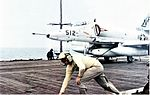 A-4E of VA-55 is launched from USS Ticonderoga (CVA-14) in 1964.jpg