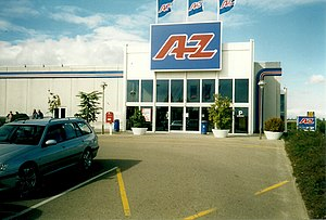 A-Z (store) - A-Z store in Sønderborg before conversion to Bilka.