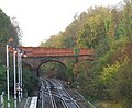 A2100 bridge over the railway at Battle - geograph.org.uk - 1576548.jpg