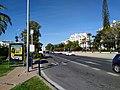 A7 motorway w busstop at Nueva Andalucia, Marbella (48781249657).jpg