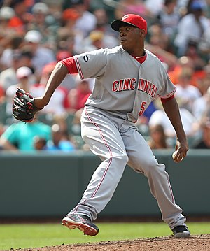 Aroldis Chapman - Chapman pitching for the Cincinnati Reds in 2011