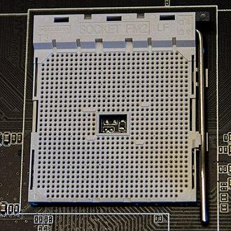 Socket FM2 - Image: AMD FM2 CPU socket closed top