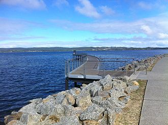 ANZAC Peace Park - Pier of Remembrance out into Princess Royal Harbour