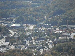 Appalachian State University - The campus seen from the summit of Howard Knob