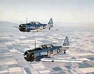 AT-6C Texans in flight 1943