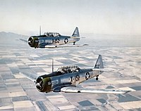 AT-6C Texans in flight 1943