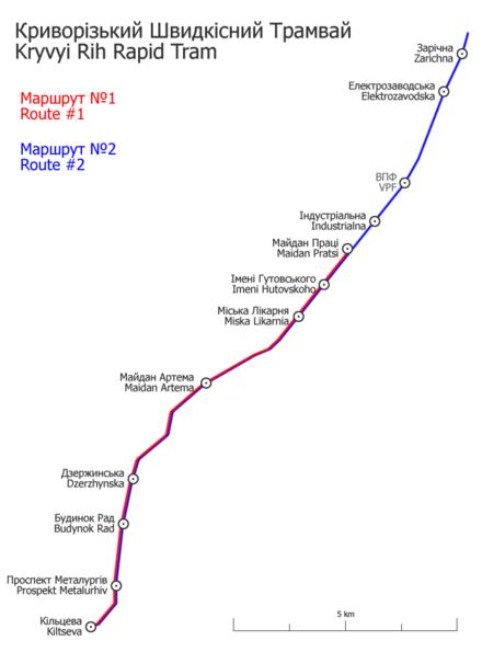 Схема маршрутов в