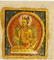 A Buddha (left); Crowned Deity (right); Folio from a Buddhist Manuscript LACMA AC1992.209.2.jpg