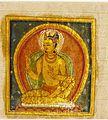 A Buddha (left); Crowned Deity (right); Folio from a Buddhist Manuscript LACMA AC1992.209.2.jpg