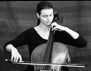 Master of Music - A young cellist performing