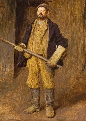 Foundry - A Foundryman, pictured by Daniel A. Wehrschmidt in 1899.