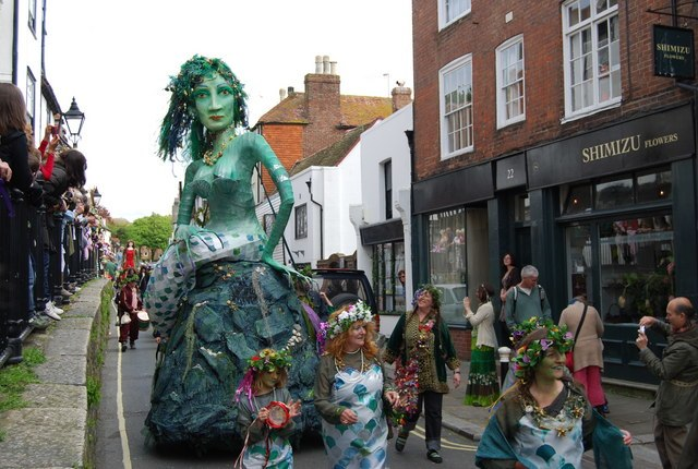 A Giant Mermaid^ Jack in the Green Festival - geograph.org.uk - 1297677