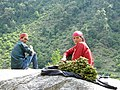 A Himachali couple selling Lingaru naturally grown vegitable in mountains of HP.jpg
