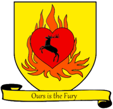 Personal coat of arms of Stannis Baratheon A Song of Ice and Fire arms of House Stannis Baratheon scroll.png