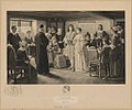 A colonial wedding, the marriage of Dr. Francis Le Baron and Mary Wilder, Plymouth, 1695 - Frederick Dielman R.A. LCCN2003665168.jpg