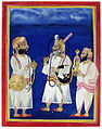 A maharana with two attendants carries sword and hookah (6125098188).jpg