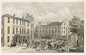 Bangor, Gwynedd - A market day in Bangor, 1856