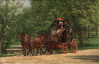 <i>The Fairman Rogers Four-in-Hand</i> painting by Thomas Eakins