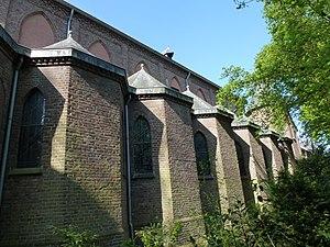 Lilbosch Abbey - Image: Abdij Lilbosch (Echt Susteren) kerk exterieur, rij zijkapellen