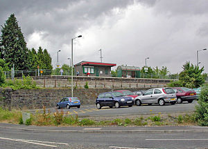 Aberdare railway station - View shortly after reopening
