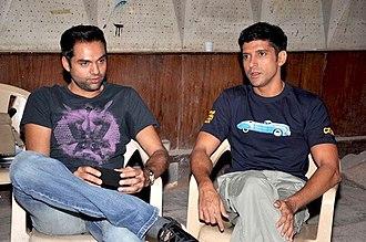 Farhan Akhtar - Akhtar with Abhay Deol promoting Zindagi Na Milegi Dobara.