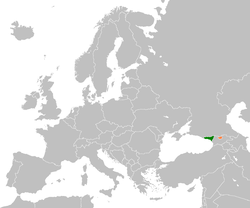 Map indicating locations of Abkhazia and South Ossetia